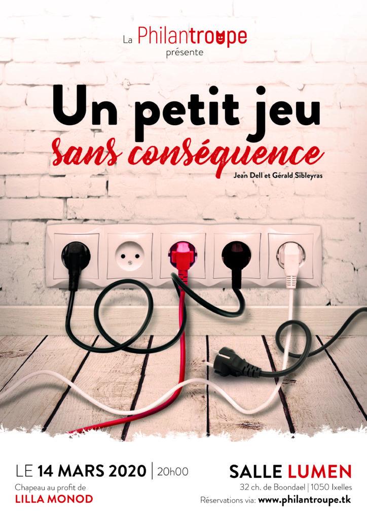"""Théâtre: """"Un Petit Jeu sans Conséquence"""" - Foyer Lilla Monod"""
